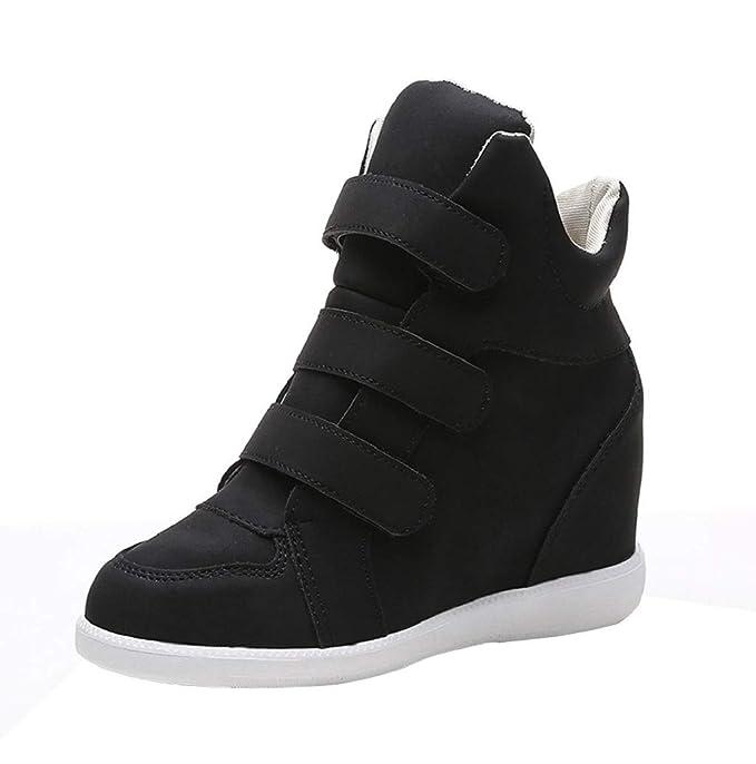 Amazon.com: Botas de piel para mujer, zapatos de tacón ...