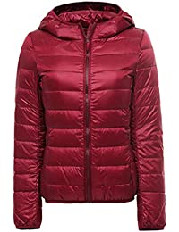 8af45fccb7e Women s Classic Hooded Packable Ultra Light Weight Down Jacket