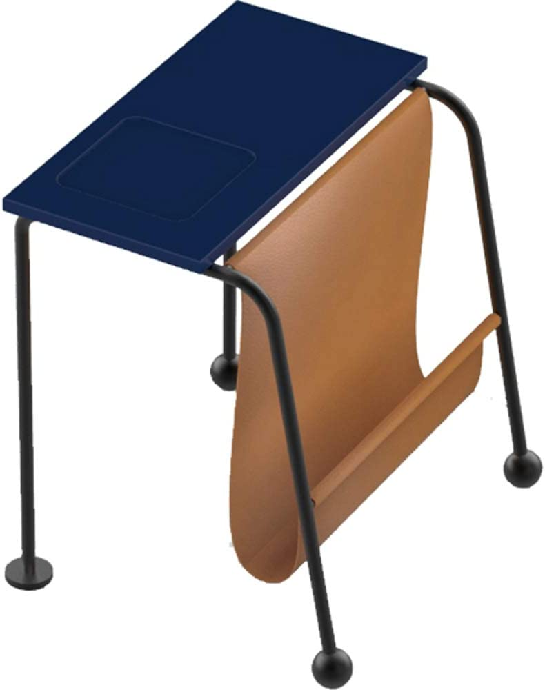 YNN ポータブルテーブル サイドテーブルクリエイティブベッドルームリビングルームマルチファンクションソファサイドテーブルシンプルなモバイルベッドサイドテーブル (色 : 青, サイズ さいず : Small)