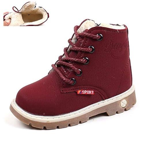 27db221ec6c6a Feidaeu Enfants Bottes de Neige Chaussures pour Filles garçons Bottes de  Mode Molle Bas bébé Filles