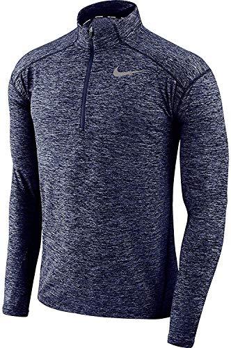 Nike Men's Element Dri-Fit Half Zip Running Shirt, Heather Blue/Reflective Silver (m)