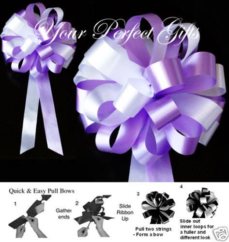 your_perfect_gifts 10 LAVENDER PURPLE WHITE WEDDING 8'' PEW BOW BRIDAL CAKE by your_perfect_gifts (Image #1)