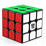 Moyu Aolong V2 Magic 3x3 Speed Cube Enhanced Edition 3D Smooth Brain Teaser Puzzle Black stickered Version for All Ages (57mm)
