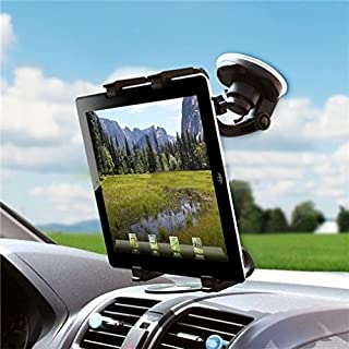 Universal 360 Degree Rotatable Windshield Car Mount Window Tablet Holder for Amazon Kindle, DX, Fire, Fire HD 6, HD 7 8 10 - Fire HD 8.9, HD8, HD10, Kids Edition - Kindle Fire HDX, HDX 7, HDX 8.9