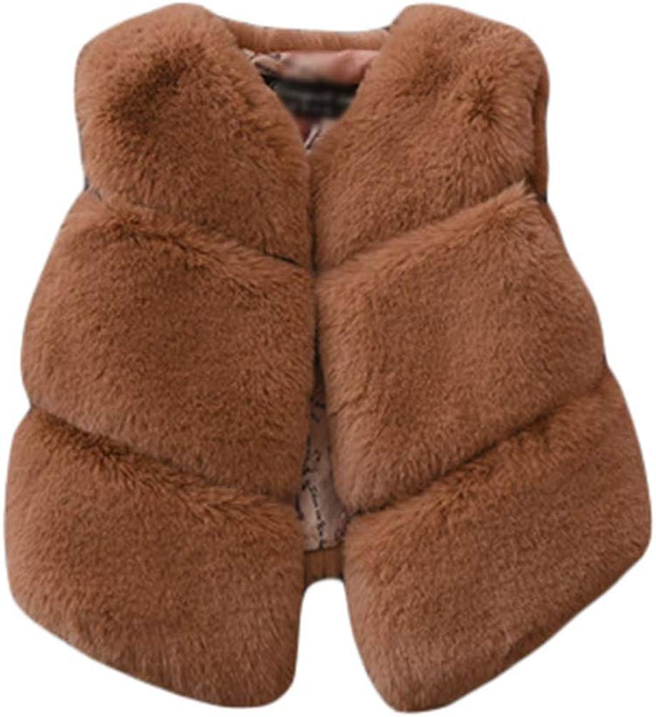 GladiolusA Kinder Herbst Winter Faux Pelz Weste Oberbekleidung Warm Mantel Weste /Ärmellos Pelzmantel M/ädchen Pelzweste Kunstpelz Weste Fellweste