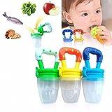 Q4U Fruit Dummy Pacifier Fresh Food/Fruit Feeder Baby Feeding Nipple Weaning Teething Nipple Teat Pacifier Teether Soother Pack of 3 Small, Medium & Large