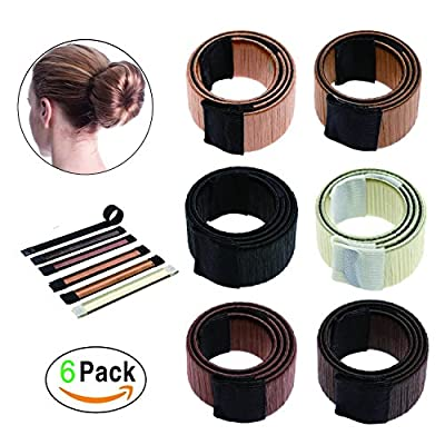Hair Bun Maker, Easy Hair Fashion Accessories for Hair styling, French Twist DIY Magic Donut Bun Hairstyle Tool for Women and Girls ( Pack of 6 )