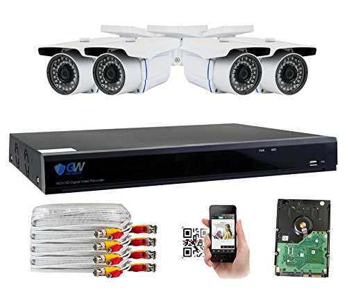 GW Security 8 Channel CCTV 5MP (2.5X 1080P) Security Surveillance DVR System with 4 x Super 5.0MP HD 1920p (2592TVL) Weatherproof Security Cameras,110ft IR Night Vision,2TB HDD