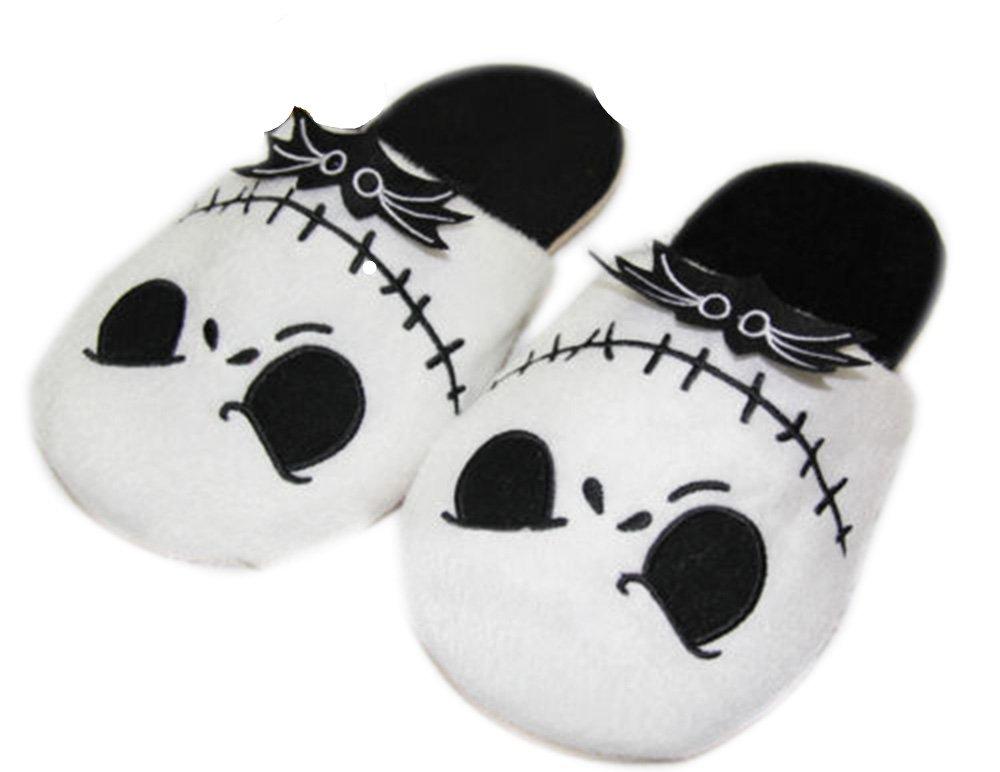 Cartoon Animal Nightmare Before Christmas Jack Skellington Soft Warm Slippers Plush Slippers