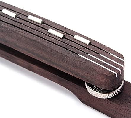 OULII Palo de Rosa Puente Flotante para 6 Cuerdas Guitarra del ...