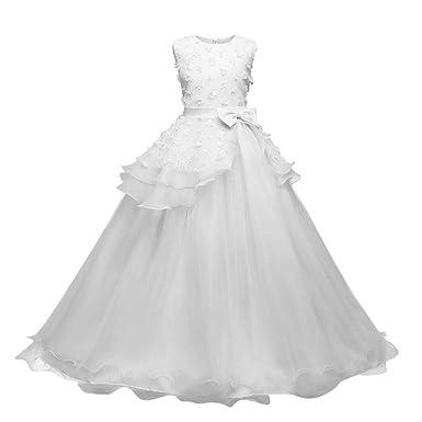 868d8b2464b ❤️Filles d honneur mariée Robes PANPANY Bébé Floral Princesse Demoiselle  Robe de d