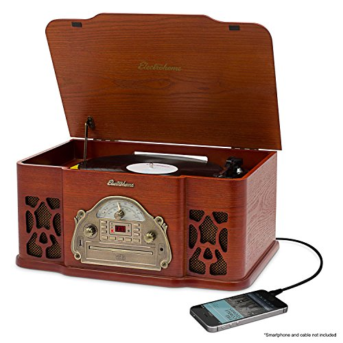 electrohome-wellington-record-player-retro-vinyl-turntable-real-wood-stereo-system-am-fm-radio-cd-us