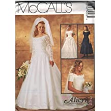 7452 McCalls Sewing Pattern UNCUT Misses Wedding Dress Bridal Gown Size 8 10 12