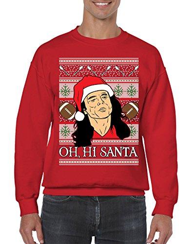 Nice SpiritForged Apparel Oh, Hi Santa TW Ugly Christmas Crewneck Sweater hot sale