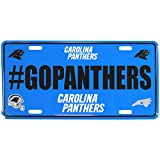 Siskiyou NFL Carolina Panthers Hashtag License Plate