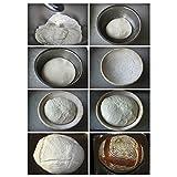 Newcomdigi-Cesta-de-Mimbre-de-Pan-Cuenco-para-Levar-Masas-Redondo-Molde-de-Pan-Pasta-Cestos-de-Almacenaje-de-Pan-y-Alimentos-Mimbre-Color-Blanco