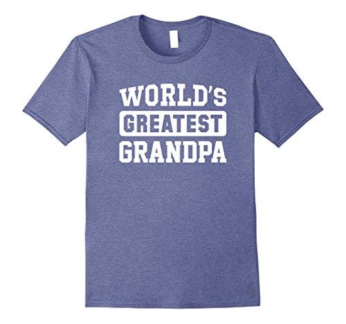 Mens World's Greatest Grandpa T-Shirt Medium Heather (Worlds Greatest Grandpa T-shirt)