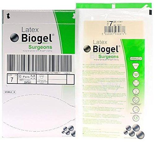 Biogel Surgeons Gloves - Latex Powder Free - Sterile - 7.0 (50 Pairs)