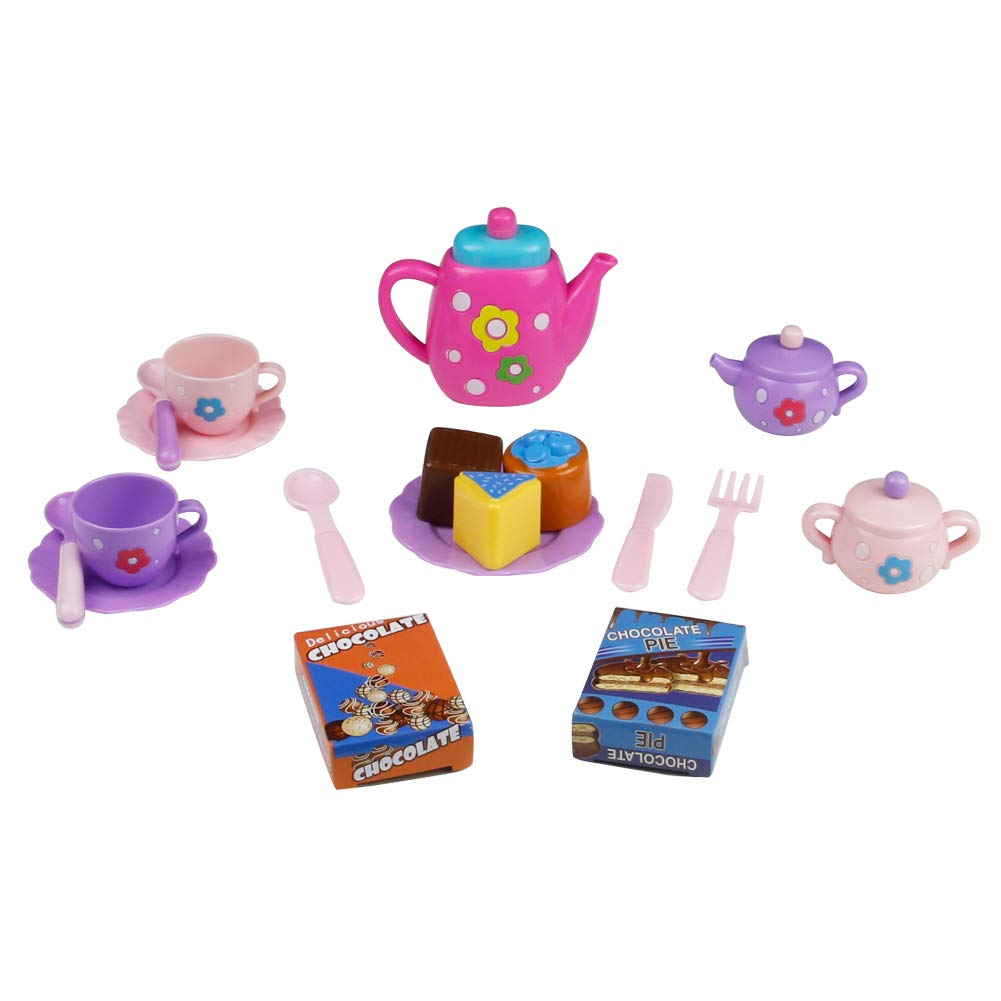Fajiabao Tea Set Tea Party Pretend Playset for Kids, Teapot Play Set Bath Toy Pretend Play Set Girls Kitchen Toy Teapot Gift for Toddles Kids Children Boys Girls 3 Years Old up
