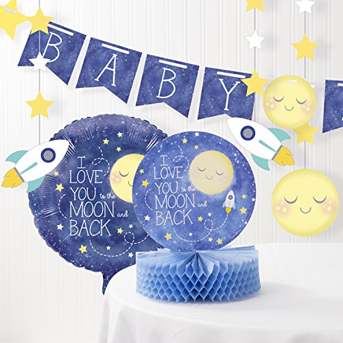 Creative Converting to The Moon and Back Baby Shower Decorations Kit