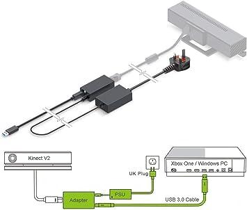 PeakLead [Edición Mejorada] Adaptador Kinect, Adapter USB 3.0 Que ...