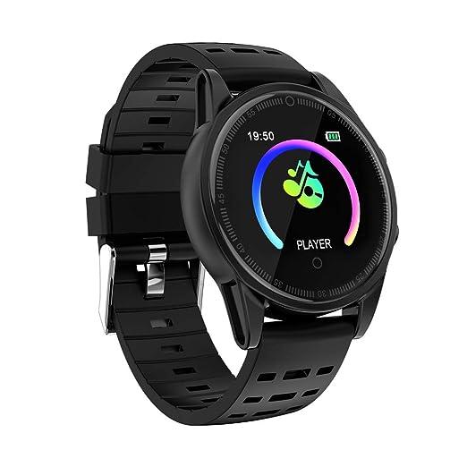Reloj Inteligente Deportivo Fitness calorías indicador de Ritmo cardíaco podómetro Reloj IP67: Amazon.es: Relojes