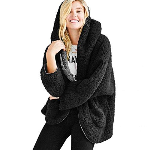WanYang Blousons Femme Manteau Outwear Coat Court Fermeture Veste Manteau Noir OrO5qAw
