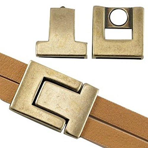 Armband basteln für 10 mm breite Bänder Sadingo DQ Metall Magnetverschluss