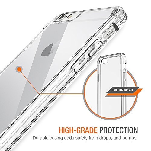 iPhone 8 7 Case, Trianium [Clarium Series] Protective Cover for Apple iPhone 7 8 Case [Shock Absorption] Reinforced Corner TPU Bumper Cushion + Scratch Resistant Hybrid Rigid Clear Back - Clear