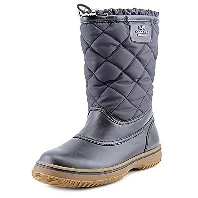 Amazon.com | Coach Samara Black Aniline Leather/Nylon Boot