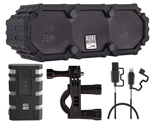 Altec Lansing Mini Lifejacket 3 Back to School Survival Kit - Wireless Bluetooth Speaker, 5000mAh Rugged Power Bank, Bike Mount and Reinforced Micro USB Charging Cable