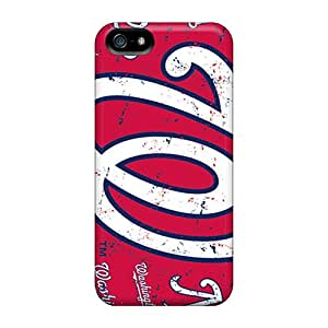 Shock-Absorbing Hard Cell-phone Case For Iphone 5/5s With Customized Stylish Washington Nationals Image MansourMurray