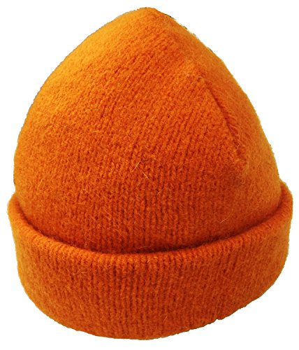 Dachstein Woolwear 100% Austrian Boiled Wool Thick Alpine Cap in Colors (One Size, Orange)