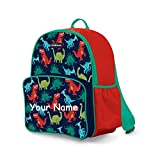 Personalized Prehistoric Dinosaur Print Back to School Backpack Book Bag with Custom Name