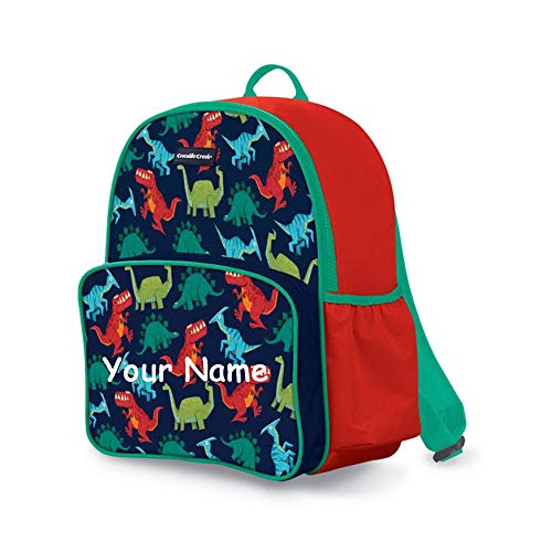 - Crocodile Creek Personalized Prehistoric Dinosaur Print Back to School Backpack Book Bag with Custom Name