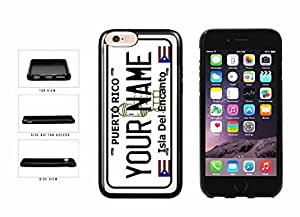 Personalized Custom Puerto Rico License Plate TPU RUBBER SILICONE Phone Case Back Cover iPhone 6 (4.7 inches)