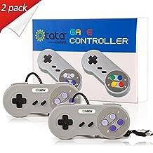 SNES Retro USB Super Nintendo Controller,kiwitatá Classic SNES Controller USB Gamepad Joystick for Raspberry Pi PC Mac Windows (2 Pack)
