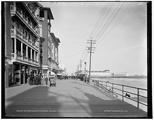 Vintography 8 x 10 Ready to Frame Pro Photo of Boardwalk Atlantic City N J 1900 Detriot Publishing 03a