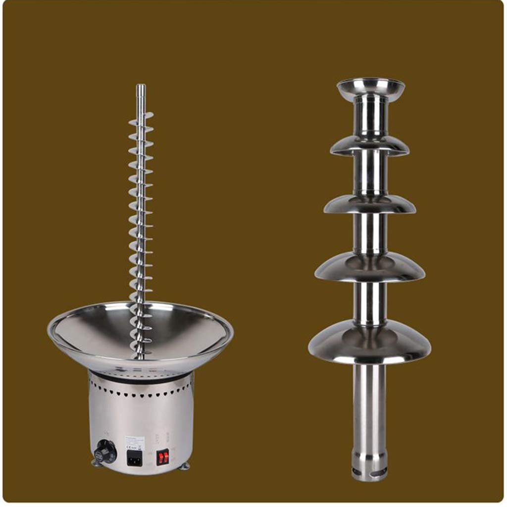 Socean Commercial chocolate fountain, waterfall machine five-layer spray tower automatic temperature control stainless steel kettle fountain waterfall. by Chocolate Fountain (Image #9)