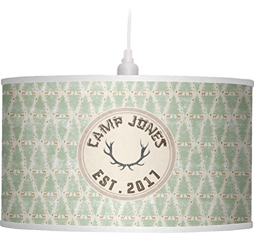 RNK Shops Deer Drum Pendant Lamp Linen (Personalized) by RNK Shops