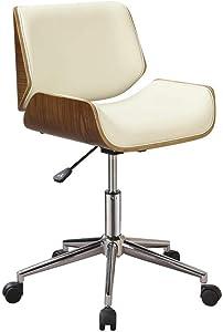 Coaster Home Furnishings Leatherette Office Chair, Ecru