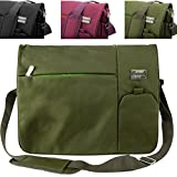 Italey Protective Padded Shoulder Messenger Bag [Olive Green] For Samsung 13.3 ~ 15.6-inch Laptops (ATIV Book 2, 4, 6, 8, 9, 9 Lite)