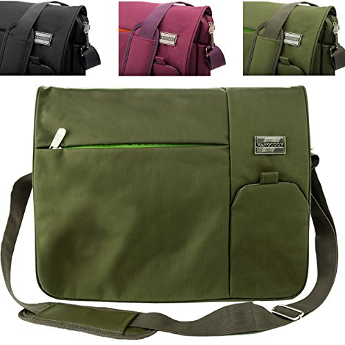 Italey Protective Padded Shoulder Messenger Bag [Olive Green] For Samsung 13.3 ~ 15.6-inch Laptops (ATIV Book 2, 4, 6, 8, 9, 9 Lite) by Vangoddy