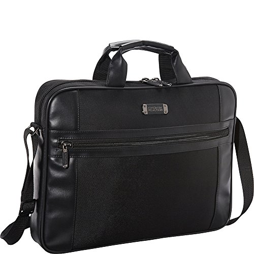 Kenneth Cole Reaction Top Zip Computer Case - Polyester Leather - Black -  adult