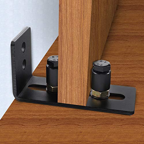 New Design!Barn Door Floor Guide,Wall Mounted Stay Roller Guides Flush to Floor, Ultra Smooth Fully Adjustable Channel,Bottom Floor Guide for All Sliding Barn Door Hardware (2 Pack,Screws and Anchor) by HIIMIEI (Image #3)