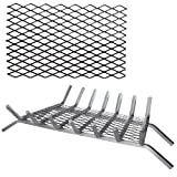 Woodeze Fireplace Log Burning Tool 12'' Steel Ember Retainer Grill Hearth Accessory For Grates