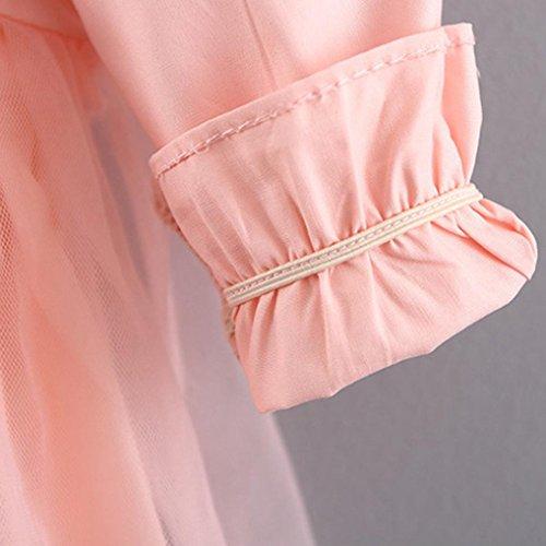 Baby kleider Mädchen Kleider Longra Kinder Baby Kleidung 0-3 Jahre Mode Mädchen Blumenspitze Prinzessin Kleid Bowknot Kleider Minikleid Party Kleid Festliche Kleider Pink