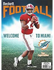 NEWEST GUIDE: Beckett Football Card Monthly Price Guide (May 15, 2020 release/T. Tagovailoa cover)