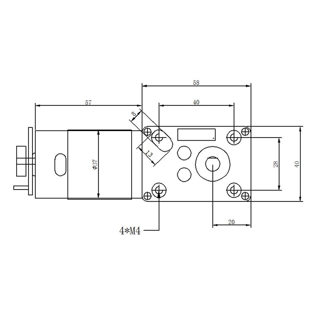 Große Drehmoment DC Reduktion Getriebe Motor Elektro Getriebemotor 12V 15-200RPM
