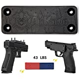 AXKONG Magnetic Gun Mount | 43 Lbs Rated Rubber Coated Gun Magnet Car Truck Vehicle Concealed Holder & Holster for Handgun, Pistol, Rifle, Shotgun, Revolver, Wall, Bedside, Firearm Accessory